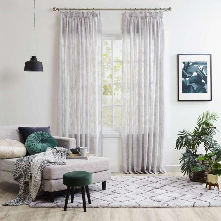 KOO Reed Sheer Pencil Pleat Curtains