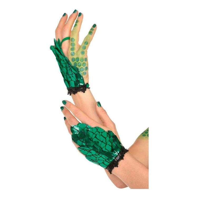 Amscan Green Scale Glovettes