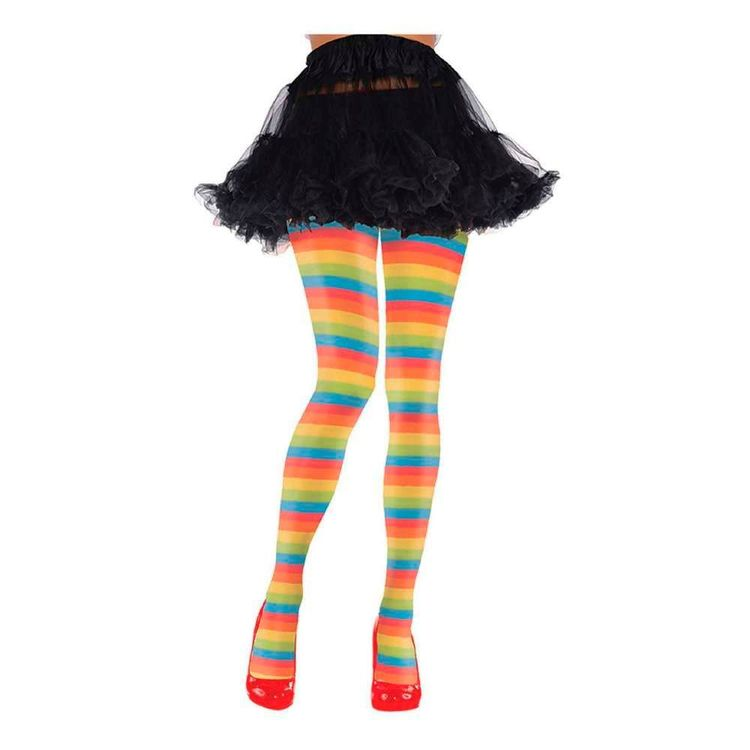 Amscan Rainbow Striped Tights