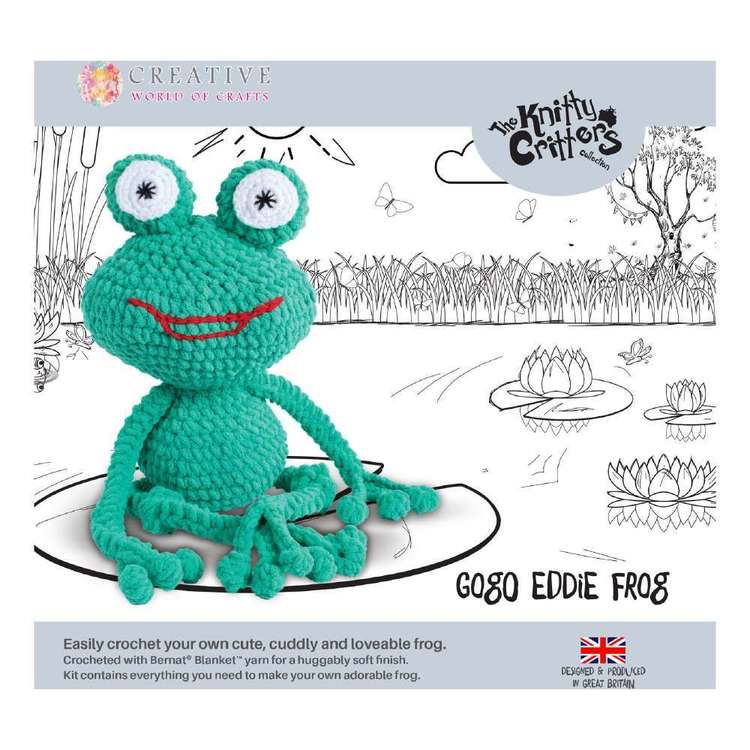 Knitty Critters Go Go Eddie The Frog Pattern