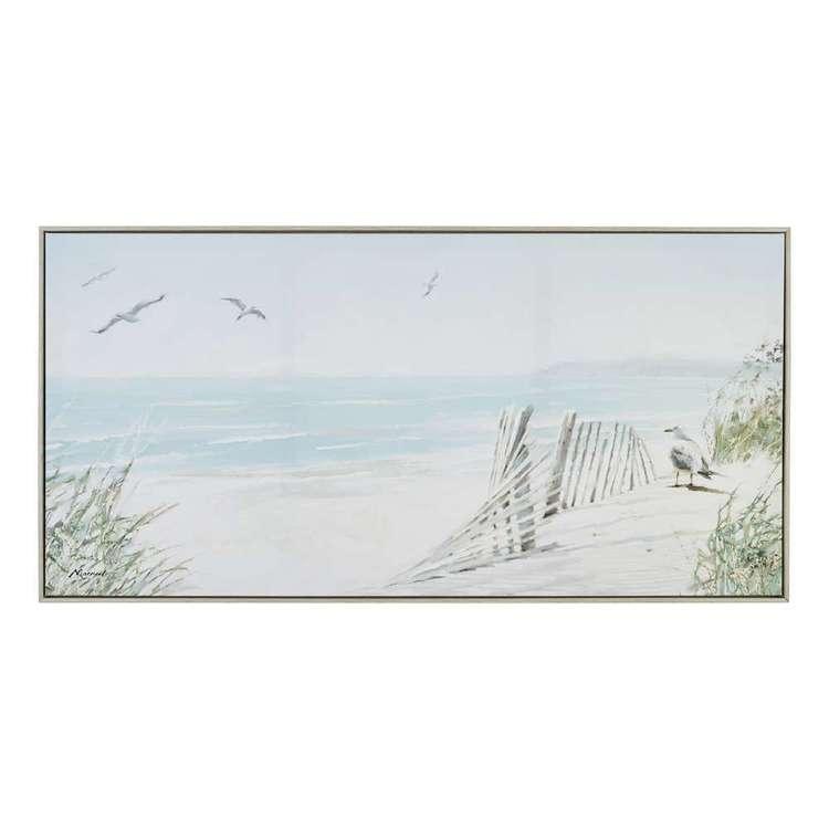 The Art Group Tag Coastal Dunes Framed Canvas By Richard McNeil