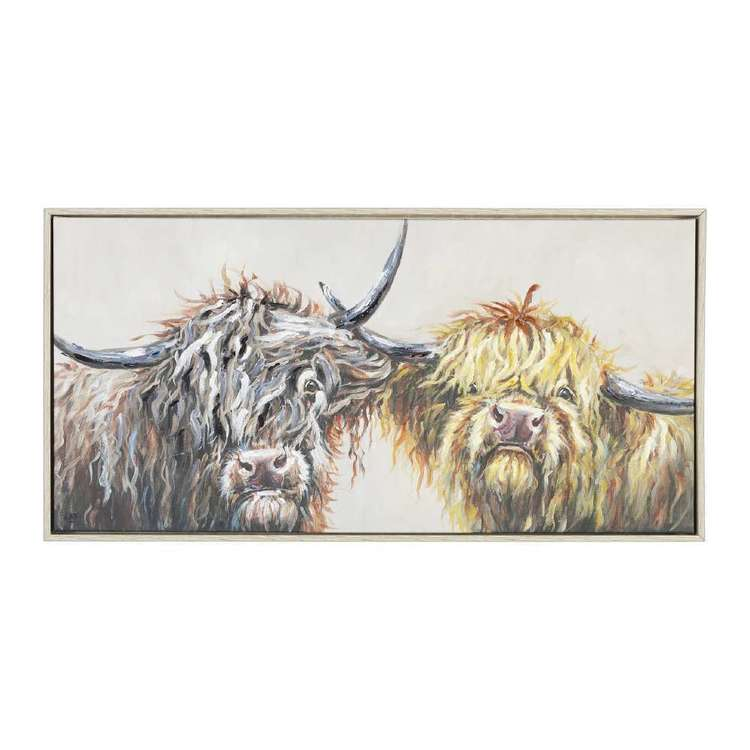 The Art Group Tag Nosey Cows Framed Canvas By Louise Brown