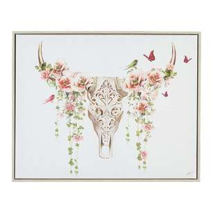 The Art Group Tag Flower Skull Framed Canvas By Summer Thornton