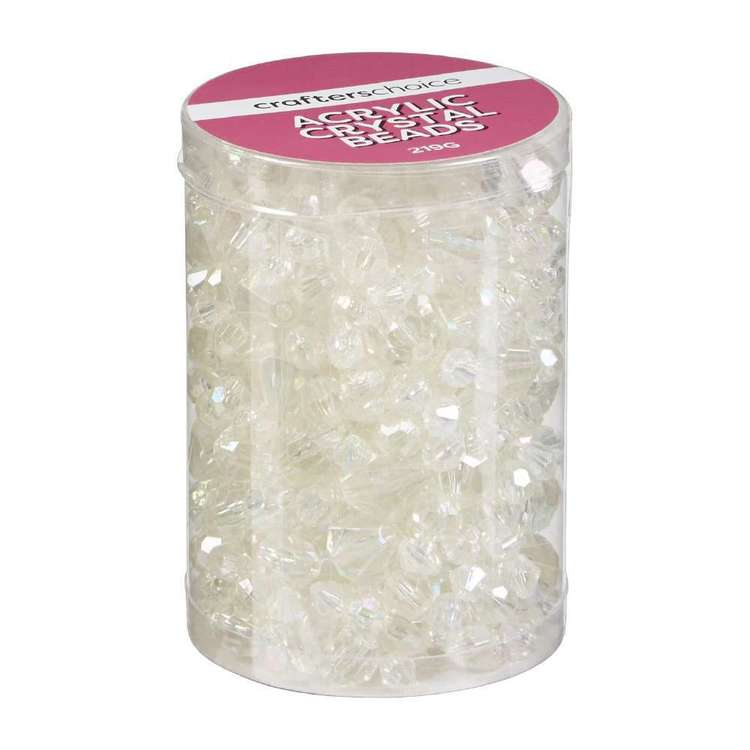 Crafters Choice Acrylic Crystal Bead In Tube Clear