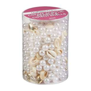 Crafters Choice Acrylic Pearl & Conch Bead In Tube
