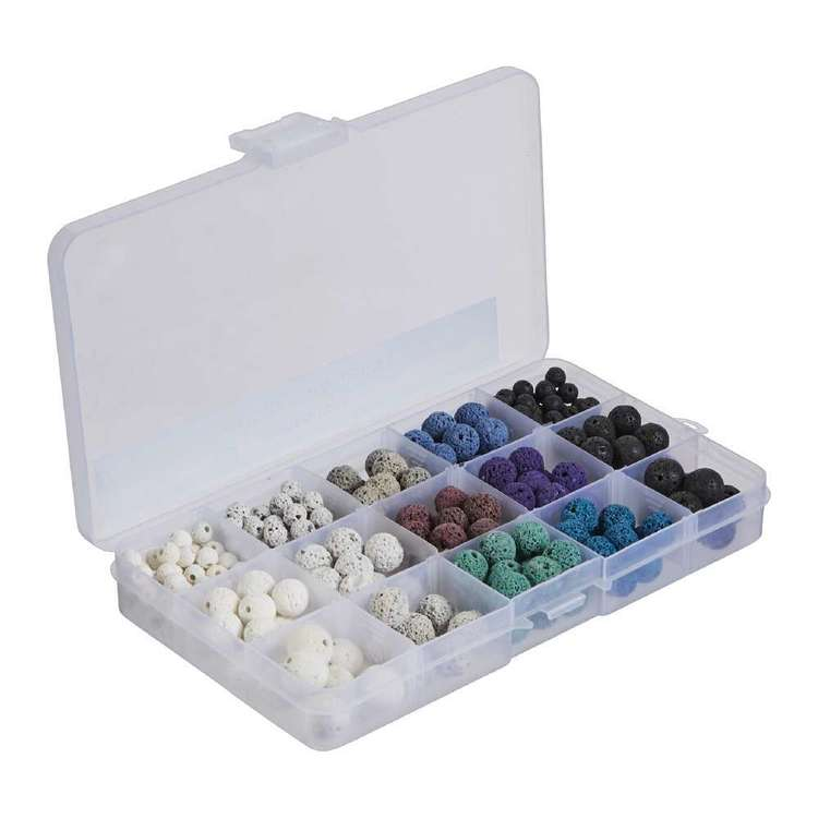 Crafters Choice Natural Lava Bead Box