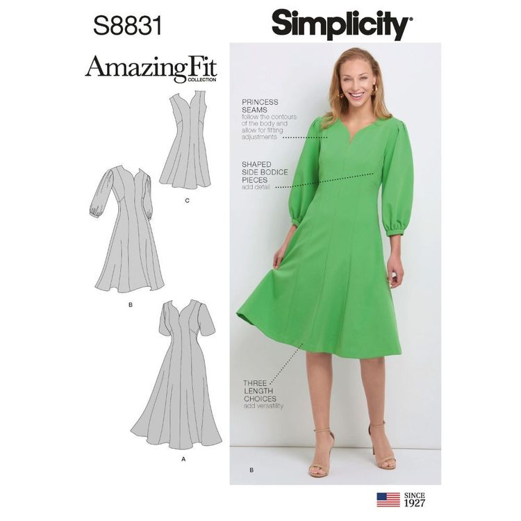 Simplicity Sewing Pattern S8831 Misses'/Women's Amazing Fit Dress