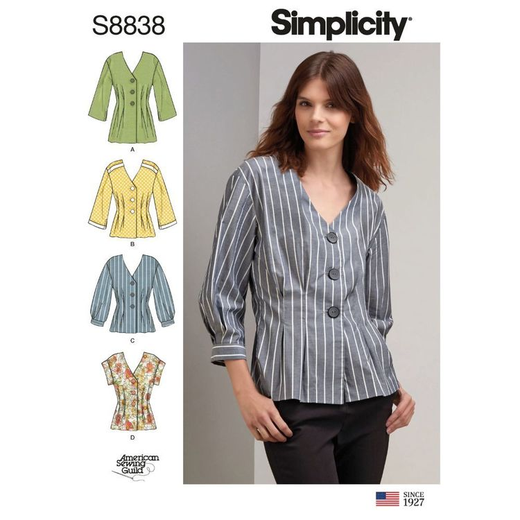 Simplicity Sewing Pattern S8838 Misses'/Miss Petite Shirt