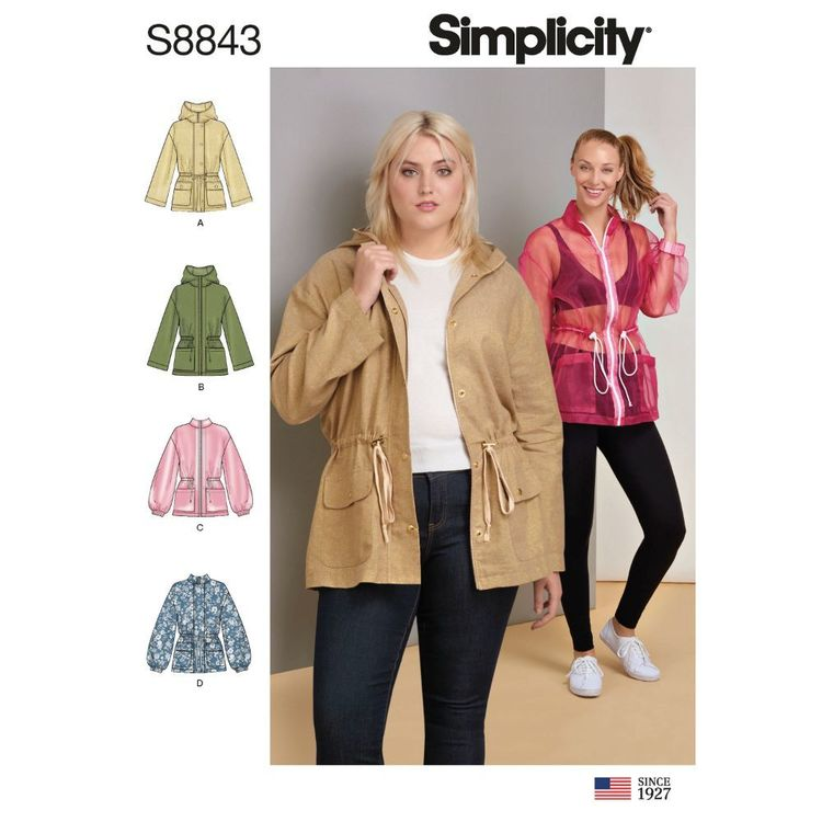 Simplicity Sewing Pattern S8843 Misses' Anorak Jacket