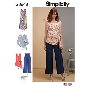 Simplicity Sewing Pattern S8848 Misses' Dress, Tops, and Pants