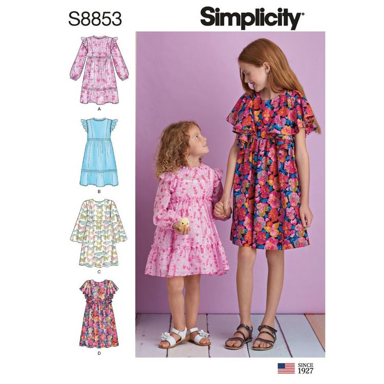 Simplicity Sewing Pattern S8853 Children's and Girls' Dress