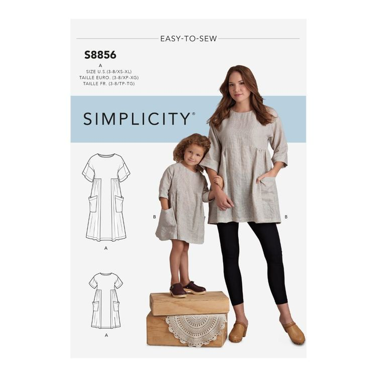 Simplicity Pattern S8856 Children's and Misses' Dress and Tunic