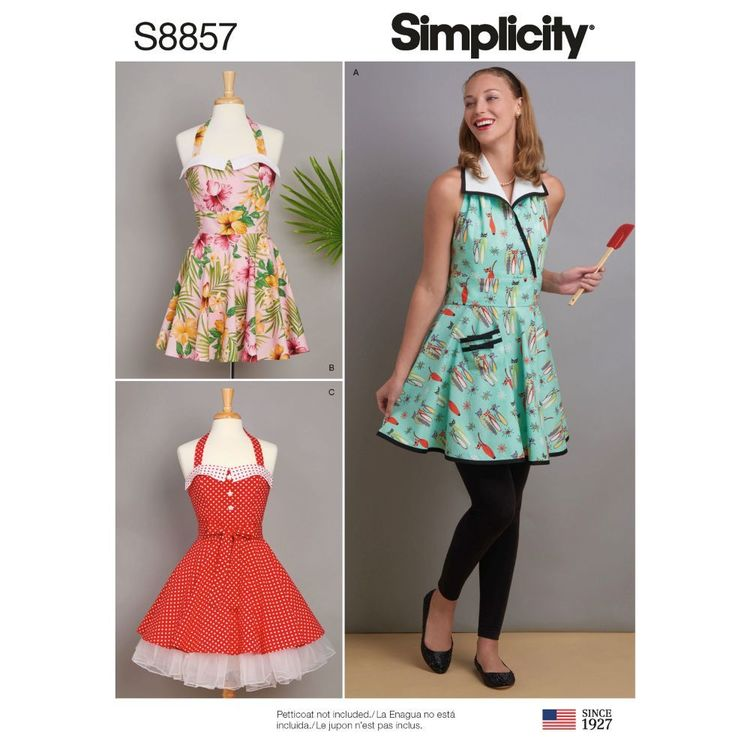 Simplicity Sewing Pattern S8857 Misses' Aprons