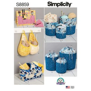 Simplicity Sewing Pattern S8859 Organizers