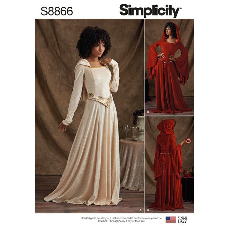 Simplicity Sewing Pattern S8866 Misses'/Miss Petite Knit Costumes