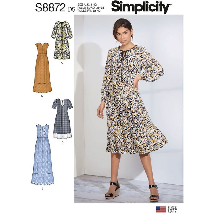 Simplicity Sewing Pattern S8872 Misses' Pullover Dress