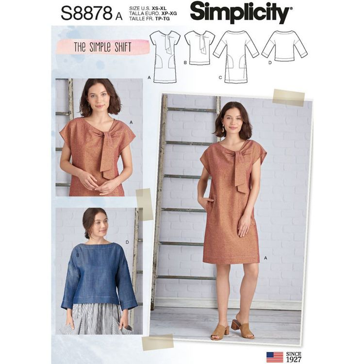 Simplicity Pattern S8878 Miss Dress and Tops