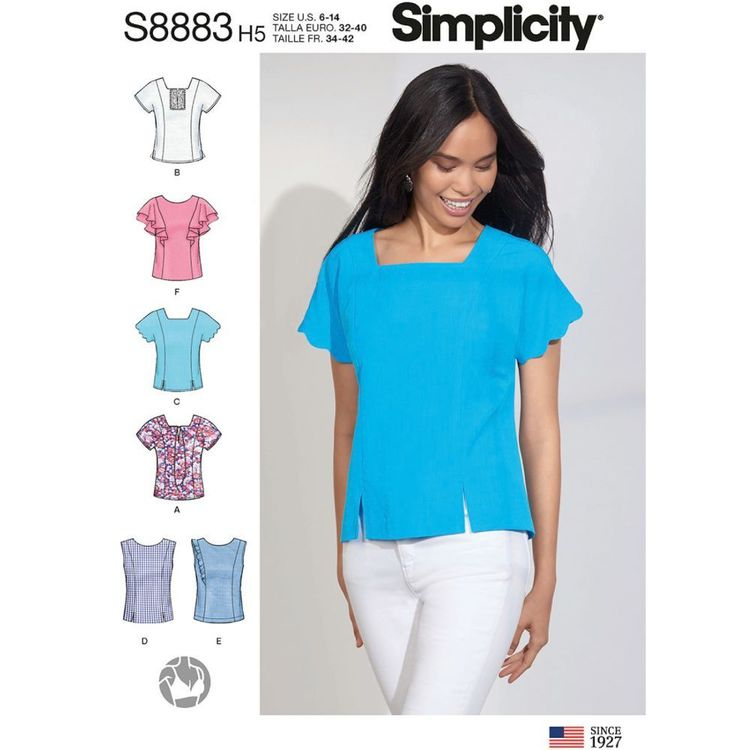 Simplicity Sewing Pattern S8883 Misses' Tops