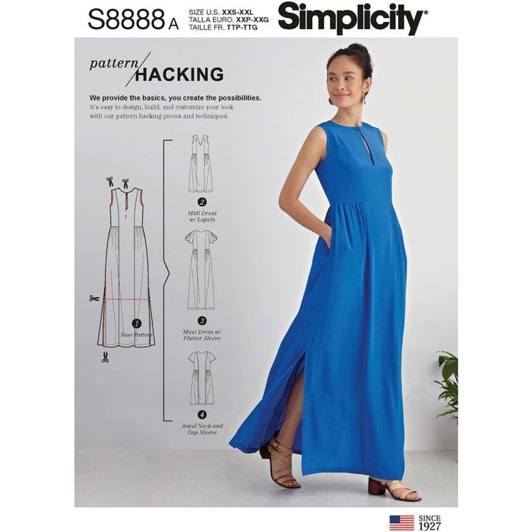 Simplicity Sewing Pattern S8888 Misses' Design Hacking Dress