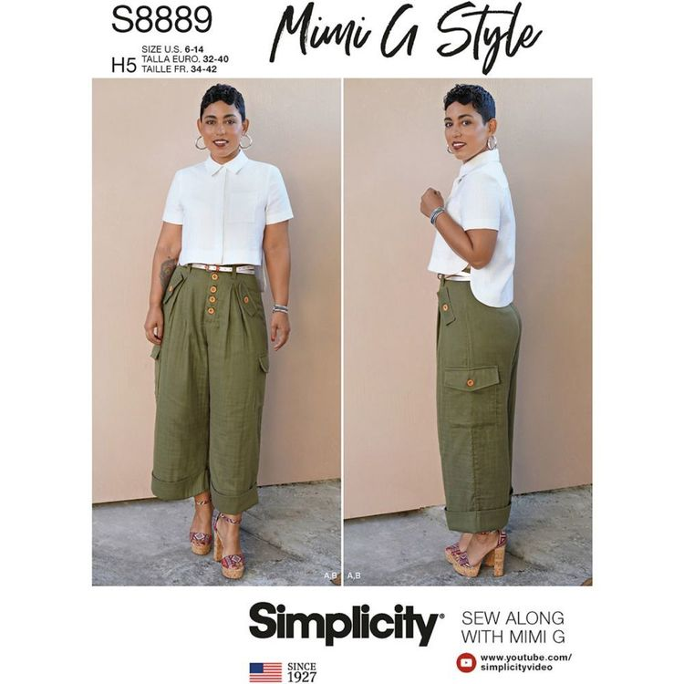 Simplicity Sewing Pattern S8889 Misses' Shirt and Wide Leg Pants by Mimi G Style