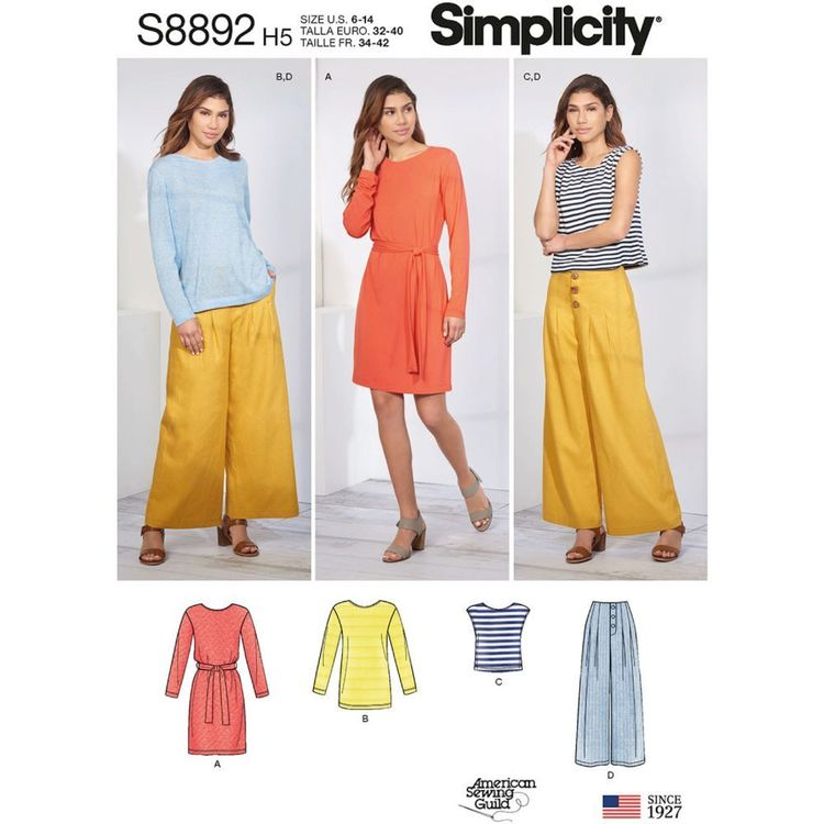 Simplicity Sewing Pattern S8892 Misses' Casual Sportswear