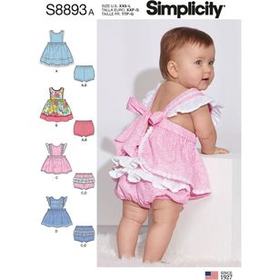 Simplicity Sewing Pattern S8893 Babies' Pinafores