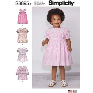 Simplicity Sewing Pattern S8895 Toddler's Dresses