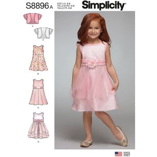 Simplicity Sewing Pattern S8896 Children's Dress