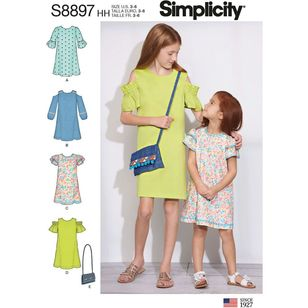 Simplicity Sewing Pattern S8897 Children's and Girls' Dress and Purse
