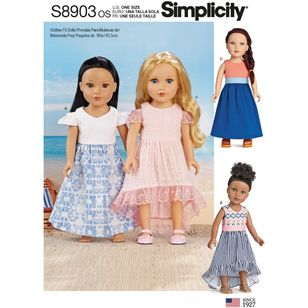 "Simplicity Sewing Pattern S8903 18"" Doll Clothes"