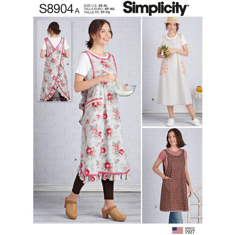 Simplicity Sewing Pattern S8904 Misses' Wraparound Apron