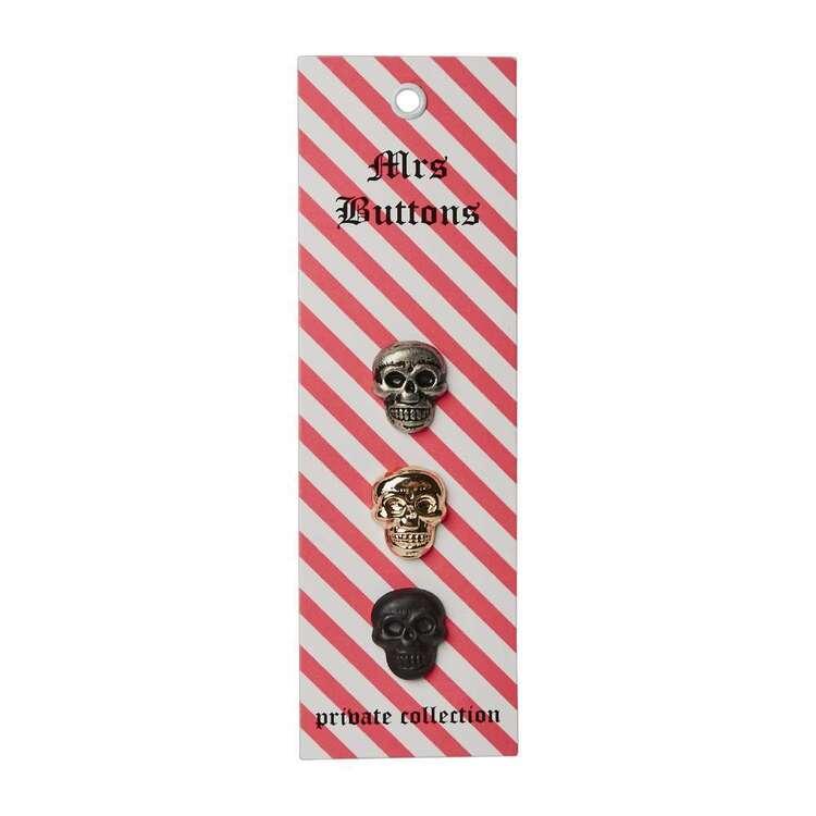 Mrs Buttons Skulls 3 Pack