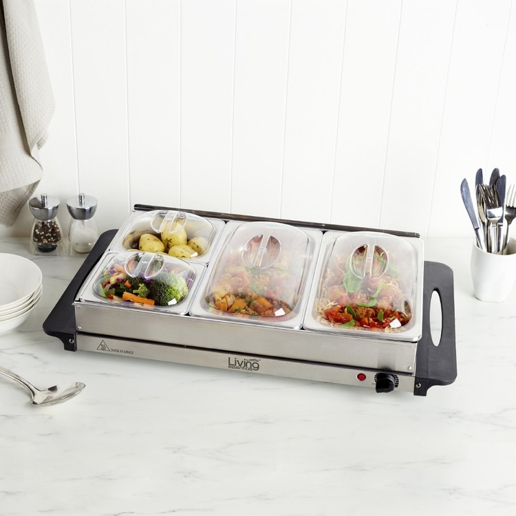 Living Essentials Buffet Food Warmer By Mistral Silver