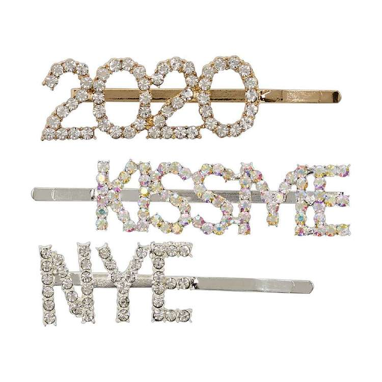 NYE Hair Clips 3 Pack