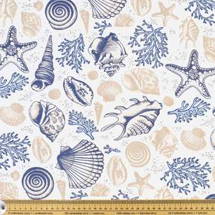 Nautilus Beach Thermal Curtain Fabric