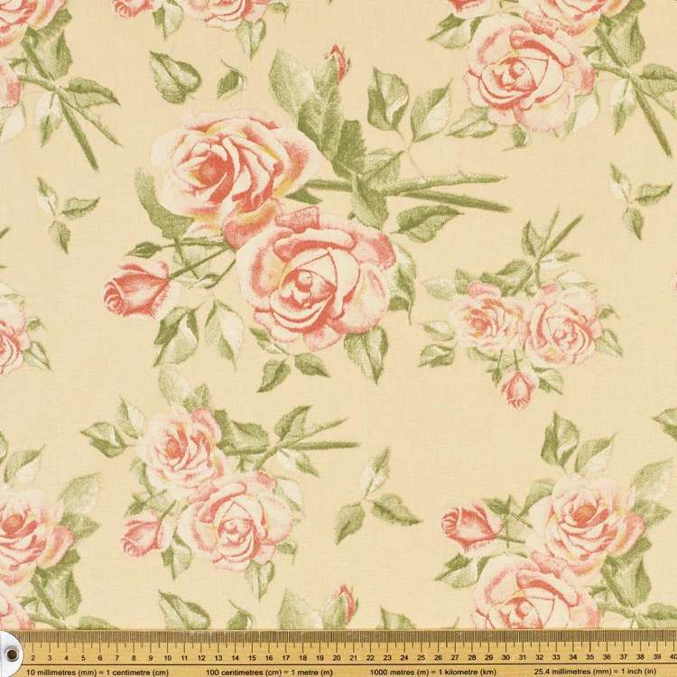 Alexandria Rose Thermal Fabric