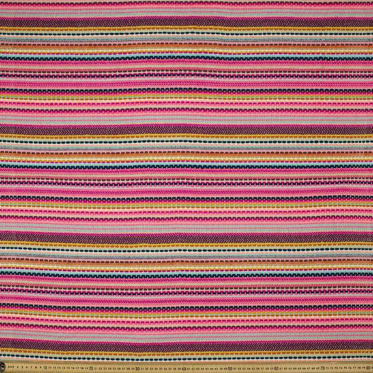 Pink Stripe Mexican Poncho 110 cm Fabric