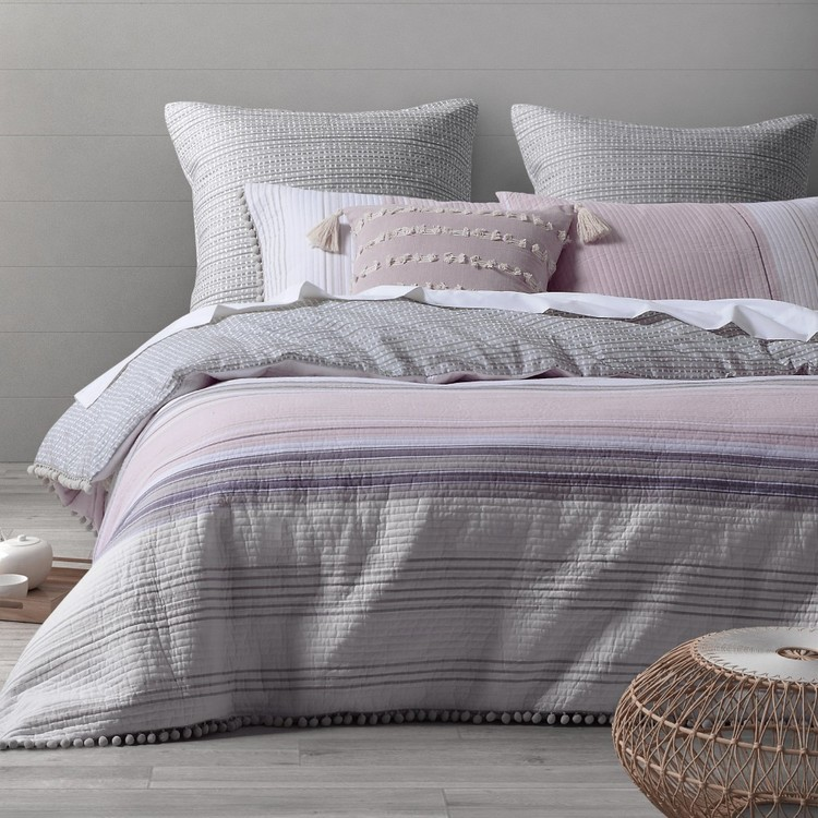 Dri Glo Avoca Pink Quilt Cover Set