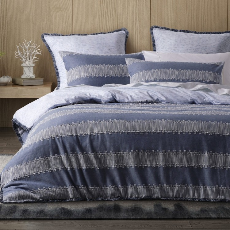 Dri Glo Saratoga Quilt Cover Set Denim