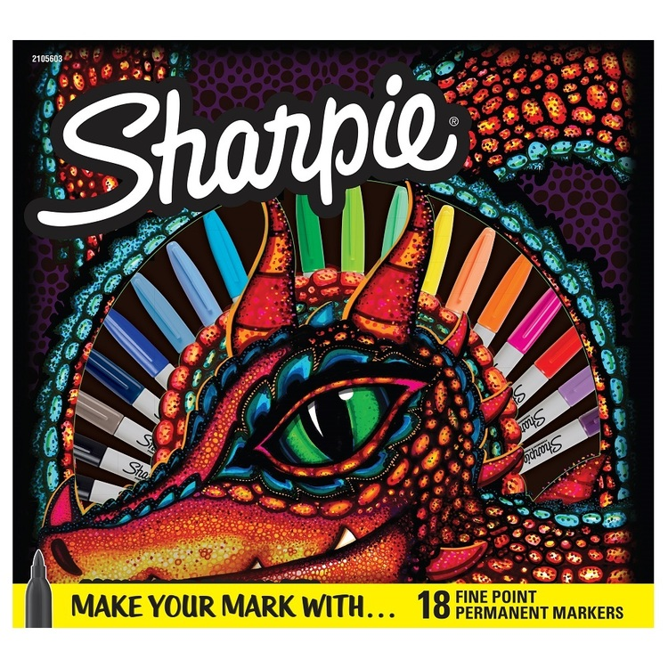 Sharpie Dragon Fine Point Permanent Markers 18 Pack