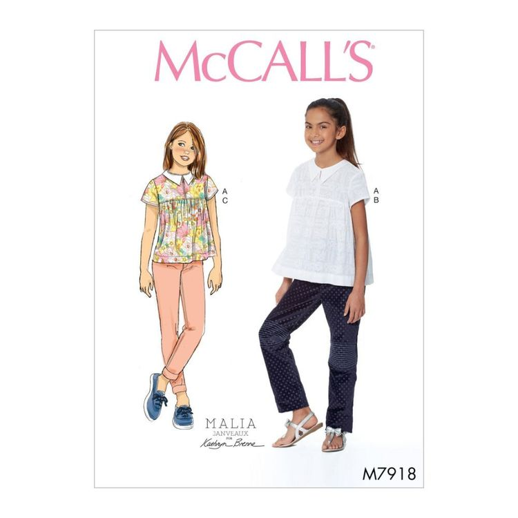 McCall's Pattern M7918 Girl's Top and Pants