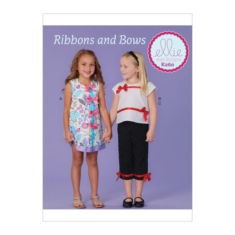 Kwik Sew Pattern K0260 Ellie Mae Designs Girl's Dress, Top and Capris