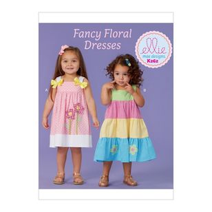 Kwik Sew Pattern K0262 Ellie Mae Designs Toddlers' Dresses'