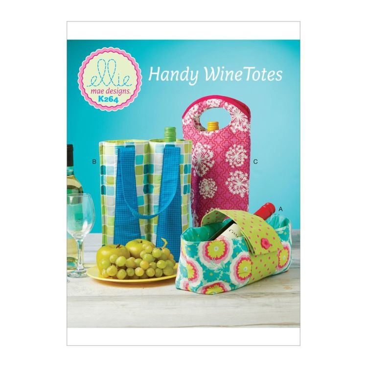 Kwik Sew Pattern K0264 Ellie Mae Designs Wine Bottle Carriers