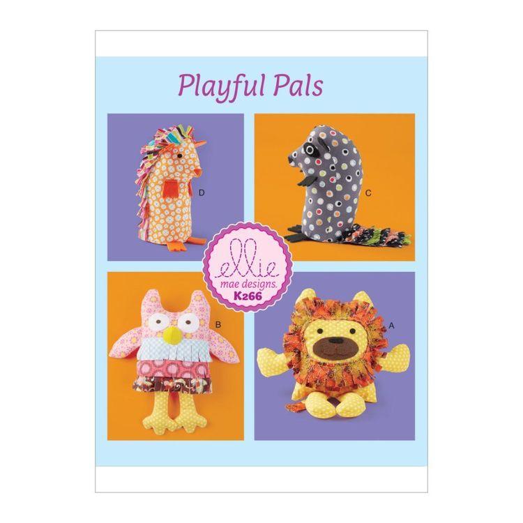 Kwik Sew Pattern K0266 Ellie Mae Designs Soft Animals