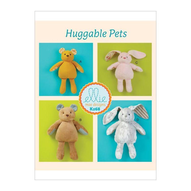 Kwik Sew Pattern K0268 Ellie Mae Designs Soft Bear and Bunny