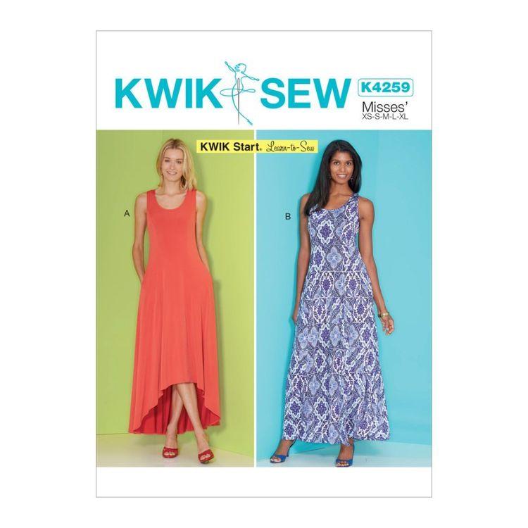 Kwik Sew Pattern K4259 Kwik Start Learn To Sew Misses' Dresses