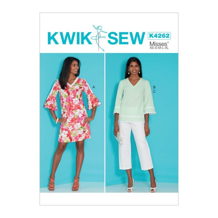 Kwik Sew Pattern K4262 Misses' Dress, Top and Pants