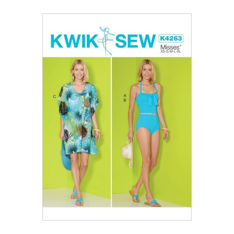 Kwik Sew Pattern K4263 Misses' Tank Top, Bottom and Cover-Up