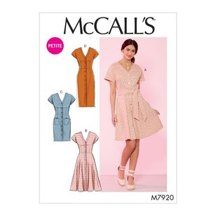 McCall's Pattern M7920 Misses'/Miss Petite Dresses and Belt